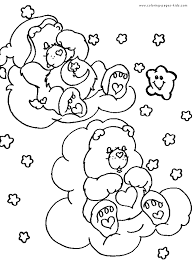 care bear color coloring pages kids cartoon