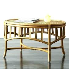 round rattan side table rattan side table rawhide bound rattan table with bronzed glass top