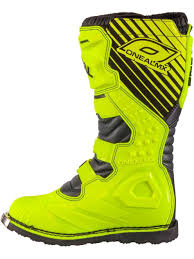 mx boots oneal neon rider eu mx boot freestylextreme oneal yellow motocross