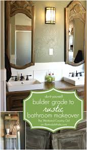 remodelaholic rustic bathroom makeover with board and batten