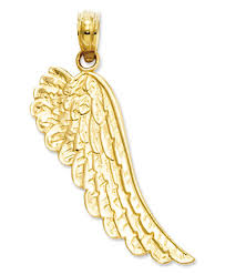 angel wing gold necklace images 14k gold charm angel wing charm jewelry watches macy 39 s tif