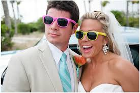 personalized sunglasses wedding favors 11 amazing wedding photos with custom printed sunglasses blue
