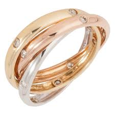 russian wedding ring pre owned 18ct gold diamond set russian wedding ring jewellery