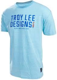 troy lee motocross gear troy lee designs logo t shirt blau grau freizeitbekleidung shirts