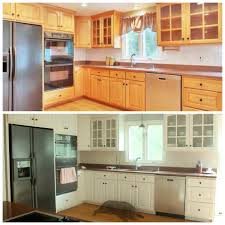 awesome before and after diy kitchen cabinet makeover what a