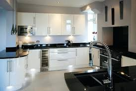 White Kitchen Cabinets With Black Countertops Granite Countertops White Cabinets White Kitchen Cabinets Black