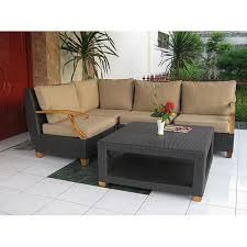Savannah Outdoor Furniture by Savannah All Weather Resin Wicker Teak Patio Furniture Sectional