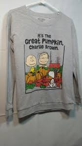 peanuts the great pumpkin charlie brown snoopy sweatshirt size xs
