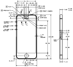 iphone 5 design apple iphone 5 fully dimensioned design drawing now