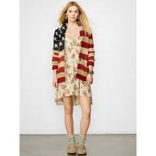 Model American Flag Lyst Denim U0026 Supply Ralph Lauren American Flag Shawl Cardigan In