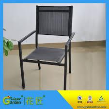 high quality metal sling restaurant sling chair folding deck chair