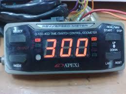 biru alza tacra u0027s diy garage apexi rev speed meter rsm