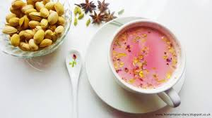 Salep Pink breaking fast with kashmiri pink tea about islam