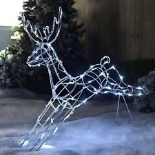 Outdoor Reindeer Decorations Outdoor U0026 Garden Christmas Decorations Ebay