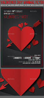 valentines flyer template valentines day minimal flyer template by hotpin graphicriver