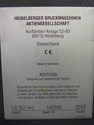 heidelberg sm cd 102 4 lx pressxchange