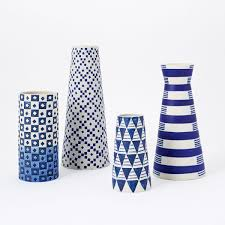 Porcelain Vases Uk Indigo Ceramic Vases West Elm Uk