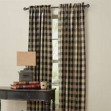 Black Check Curtains Buffalo Check Curtains Ebay