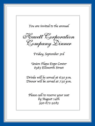 formal invitation template business free sle invitation
