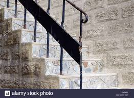 Iron Banister Stone Steps With Iron Banister And Handrail St Ives Cornwall