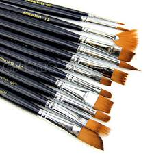makeup artist supplies 12x artist paint brush set hair watercolor acrylic