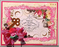 pretty pink birthday card my scrapper