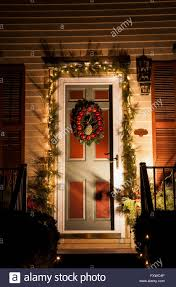 House Front Door Vintage House Front Door With Wreath Of Pineapple Red Apples And