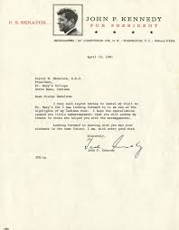Appreciation Letter Sister letter from john f kennedy to sister madeleva treasures of the