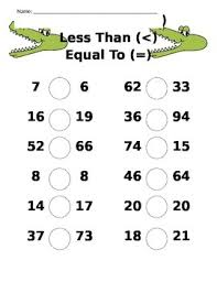 comparing numbers alligator worksheet greater than less than