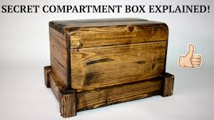 Nightstand With Hidden Compartment How To Secret Compartment Box Ii Youtube