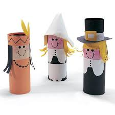 recycled paper roll thanksgiving characters