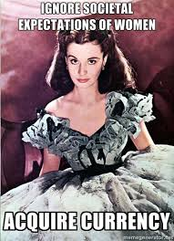 Gone With The Wind Meme - being southern rules of the southern belle never wear white shoes