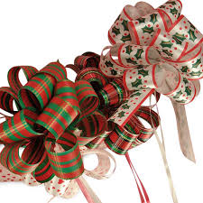 shrink wrap bags with pull bows 5 1 2 christmas poly pull bows shop paper mart