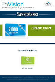 instant win gift cards enter vsp s envision sweepstakes today for your chance to win a