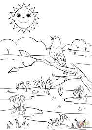nature scene coloring pages spring scene coloring pages awesome nature scene coloring sheets