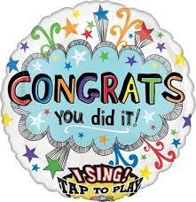 singing balloon singing balloon congratulations confetti balloon for you