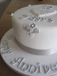 silver jubilee wedding anniversary cakes
