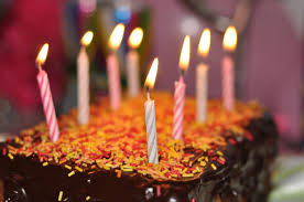 chocolate cake with candles free image peakpx