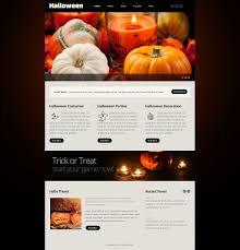 halloween website templates