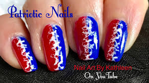 easy patriotic nail art red white and blue nails fourth of