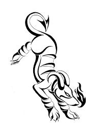 houndoom tribal design by inkbound on deviantart
