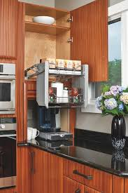 Pulls For Kitchen Cabinets by Pull Down Shelves In An Overhead Cabinet Are Capable Of Holding