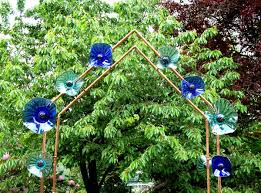 Flower Trellis Ideas Trellis Craft Book Copper Pipe Arbor With Glass Flowers