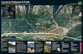Canmore Canada Map by Town Of Canmore Trails U0026 Pathways