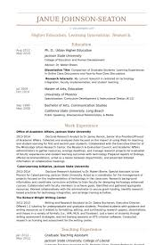graduate education resume sample graduate student resume example