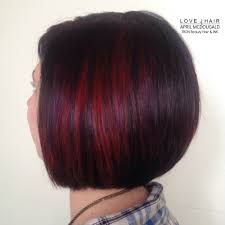 Red Hair Color With Highlights Pictures Red Hair Purple Hair Violet Hair Short Hair Bob Haircut