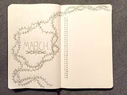 march bullet journal setup louminous