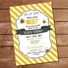 what will it bee baby shower baby shower invitation bee baby shower invitation he or she what