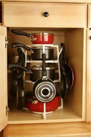 kitchen pan storage ideas pot organizer available at lowe s home ideas