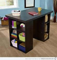 counter height desk with storage traditional office room with counter height craft table storage and